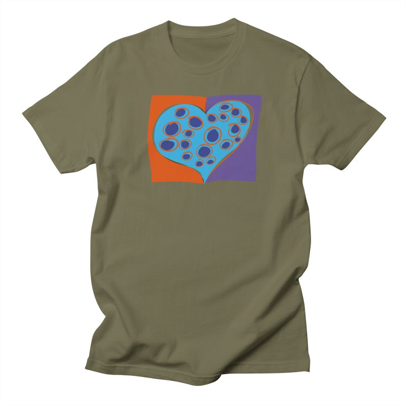Spotted Heart Men's T-Shirt by Michael Pfleghaar