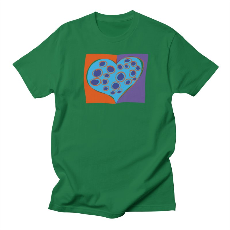 Spotted Heart Women's Regular Unisex T-Shirt by Michael Pfleghaar