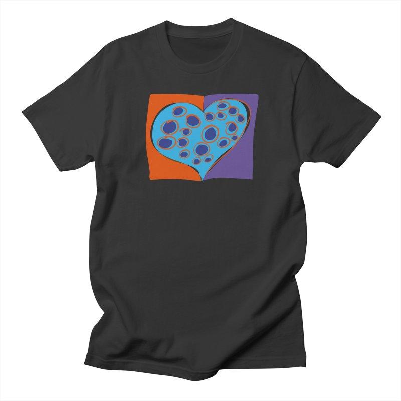 Spotted Heart Men's Regular T-Shirt by Michael Pfleghaar