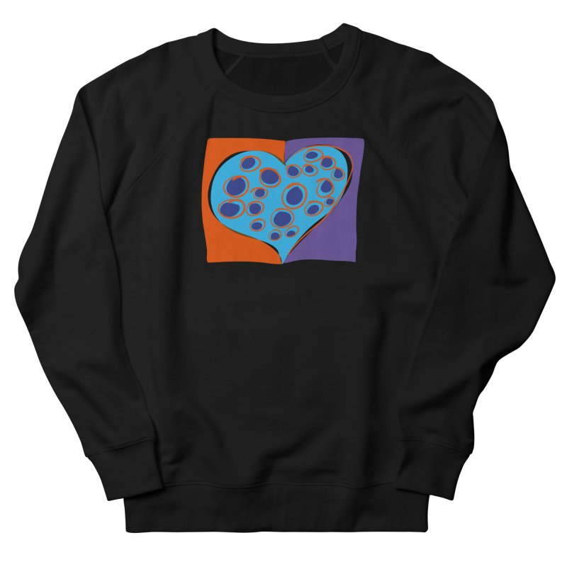 Spotted Heart Women's French Terry Sweatshirt by Michael Pfleghaar