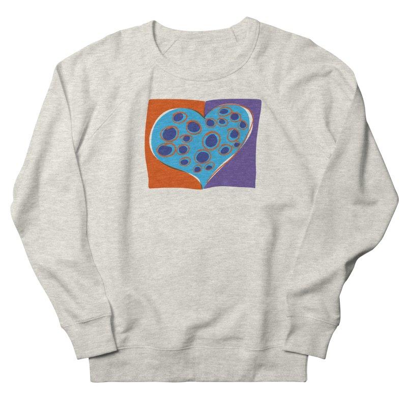 Spotted Heart Women's French Terry Sweatshirt by Michael Pfleghaar