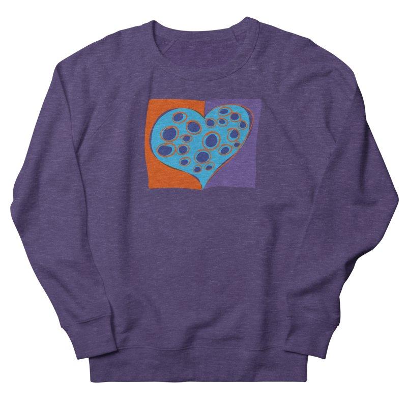 Spotted Heart Men's French Terry Sweatshirt by Michael Pfleghaar