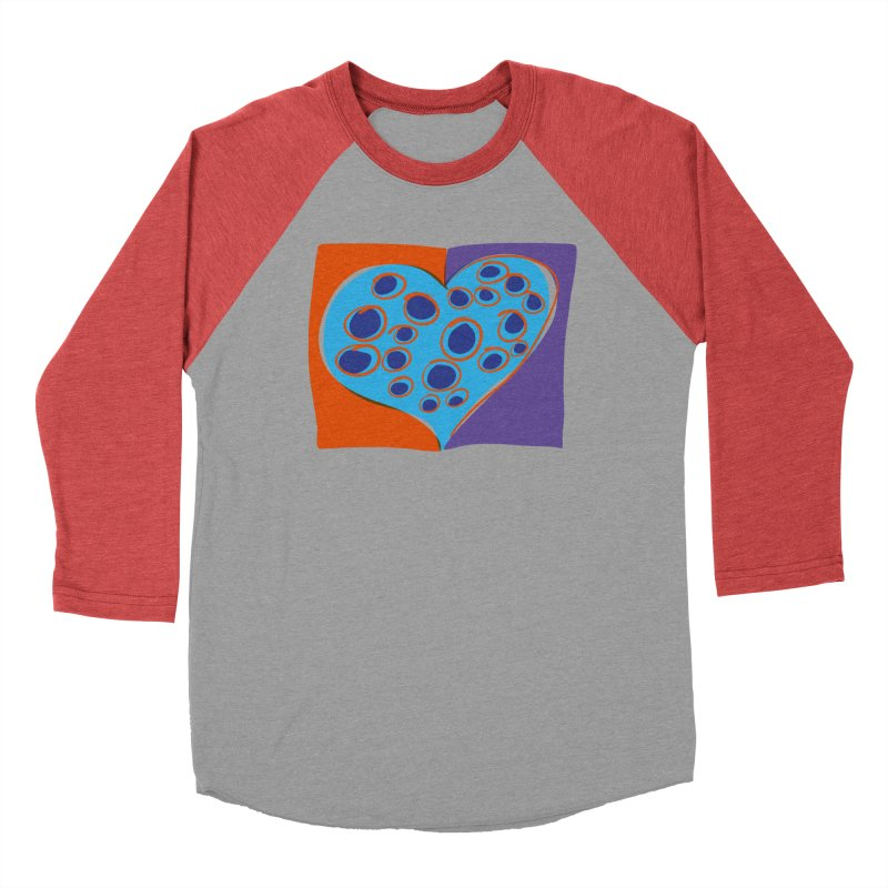 Spotted Heart Women's Baseball Triblend Longsleeve T-Shirt by Michael Pfleghaar