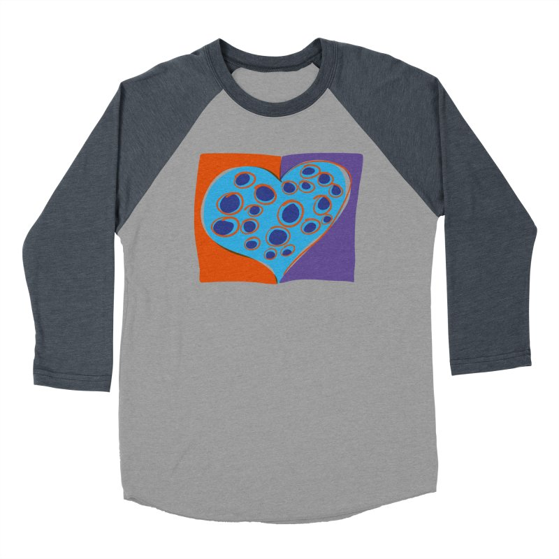 Spotted Heart Women's Baseball Triblend T-Shirt by Michael Pfleghaar