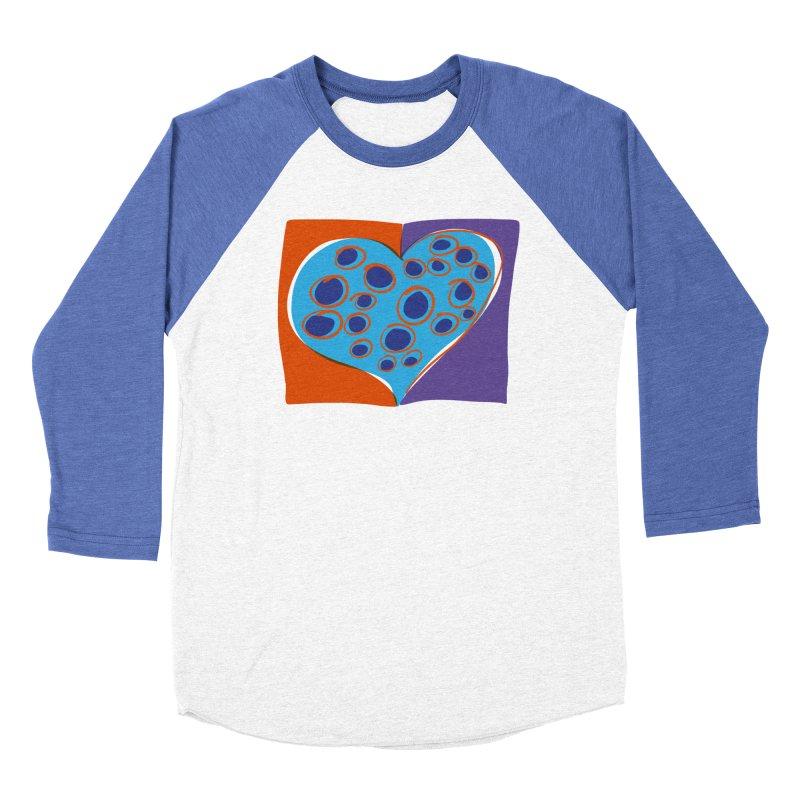 Spotted Heart Men's Baseball Triblend Longsleeve T-Shirt by Michael Pfleghaar