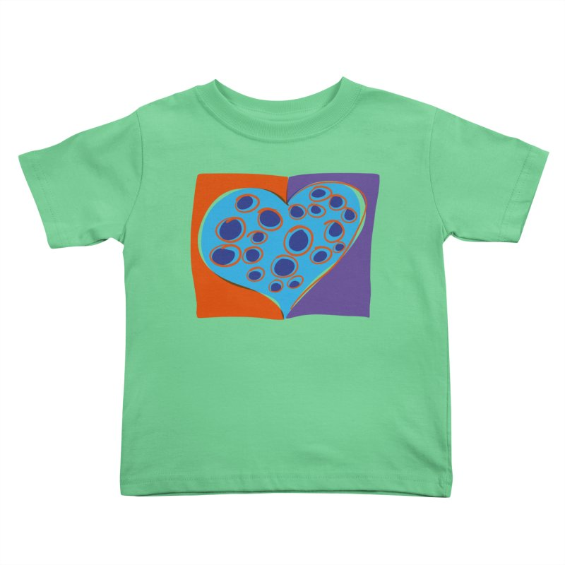 Spotted Heart Kids Toddler T-Shirt by Michael Pfleghaar