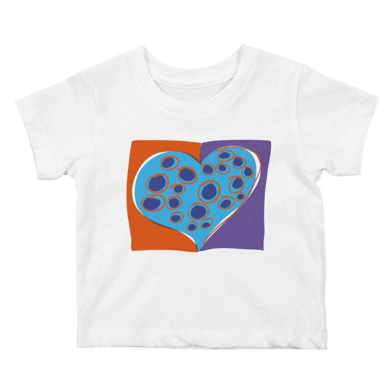 Spotted Heart Kids Baby T-Shirt by Michael Pfleghaar
