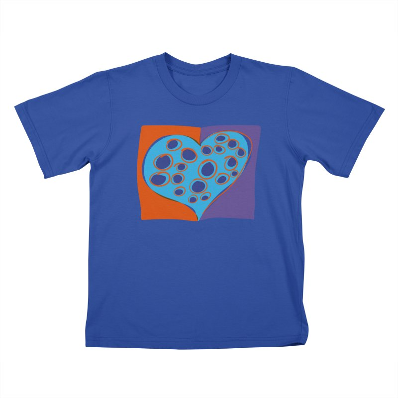Spotted Heart Kids T-Shirt by Michael Pfleghaar