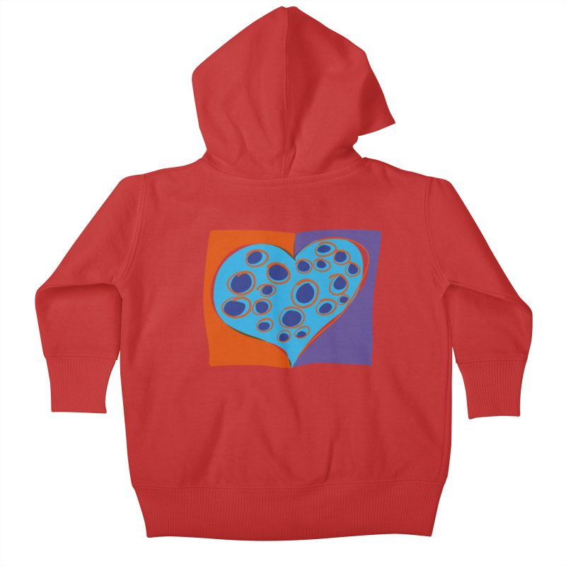 Spotted Heart Kids Baby Zip-Up Hoody by Michael Pfleghaar