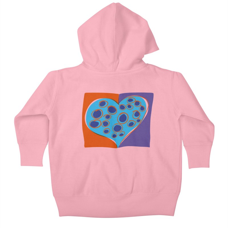 Spotted Heart Kids Baby Zip-Up Hoody by Michael Pfleghaar