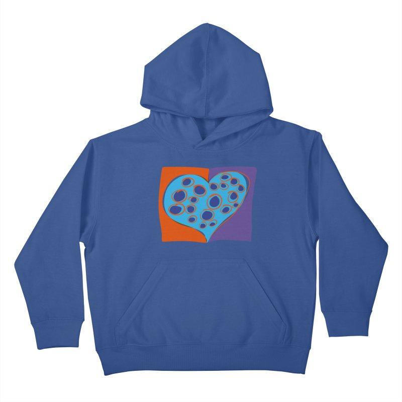 Spotted Heart Kids Pullover Hoody by Michael Pfleghaar