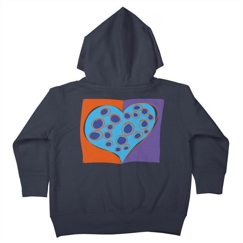 Spotted Heart Kids Toddler Zip-Up Hoody by Michael Pfleghaar
