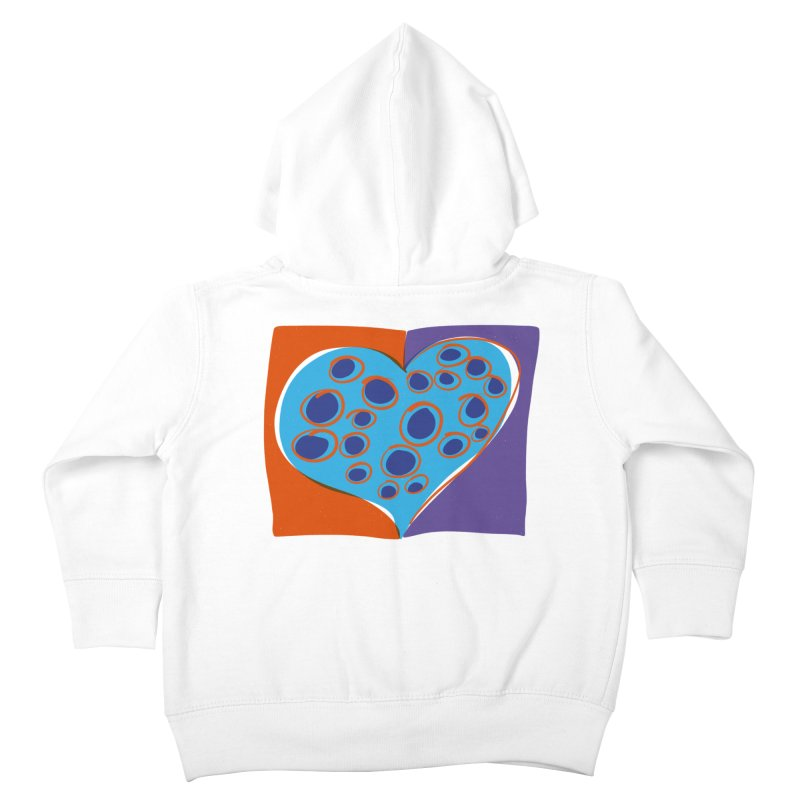 Spotted Heart Kids Toddler Zip-Up Hoody by Michael Pfleghaar