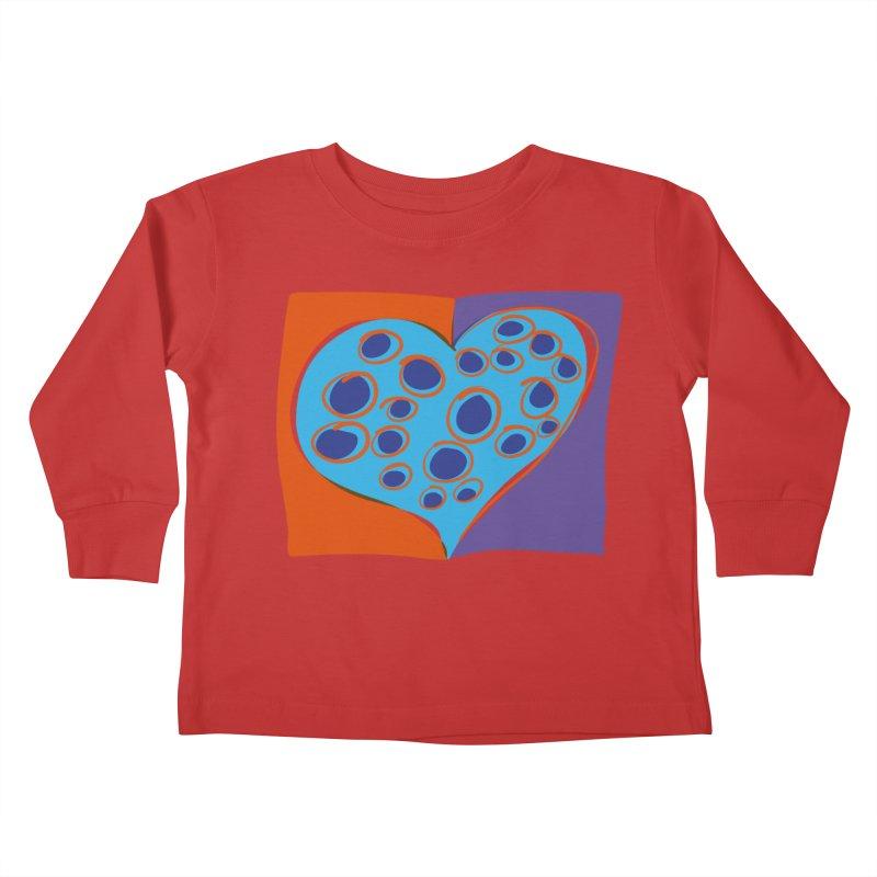 Spotted Heart Kids Toddler Longsleeve T-Shirt by Michael Pfleghaar
