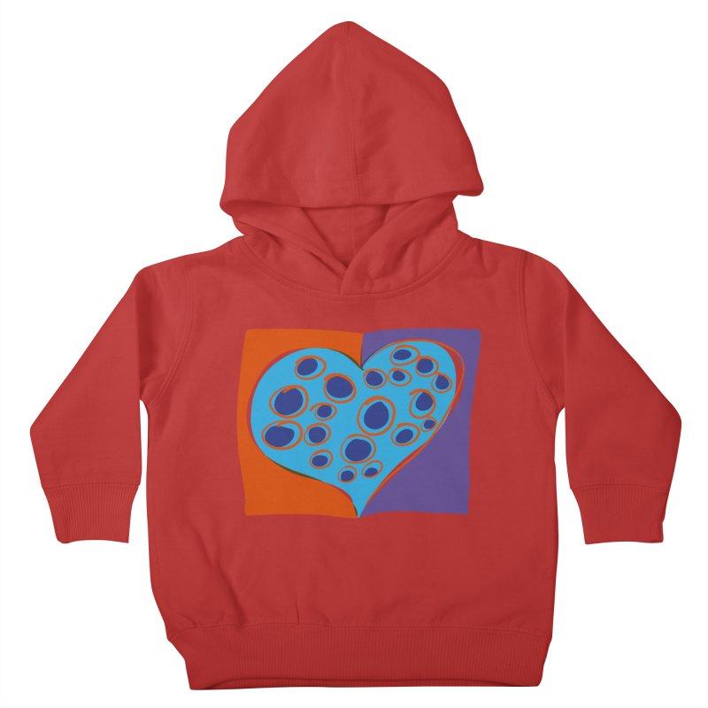 Spotted Heart Kids Toddler Pullover Hoody by Michael Pfleghaar