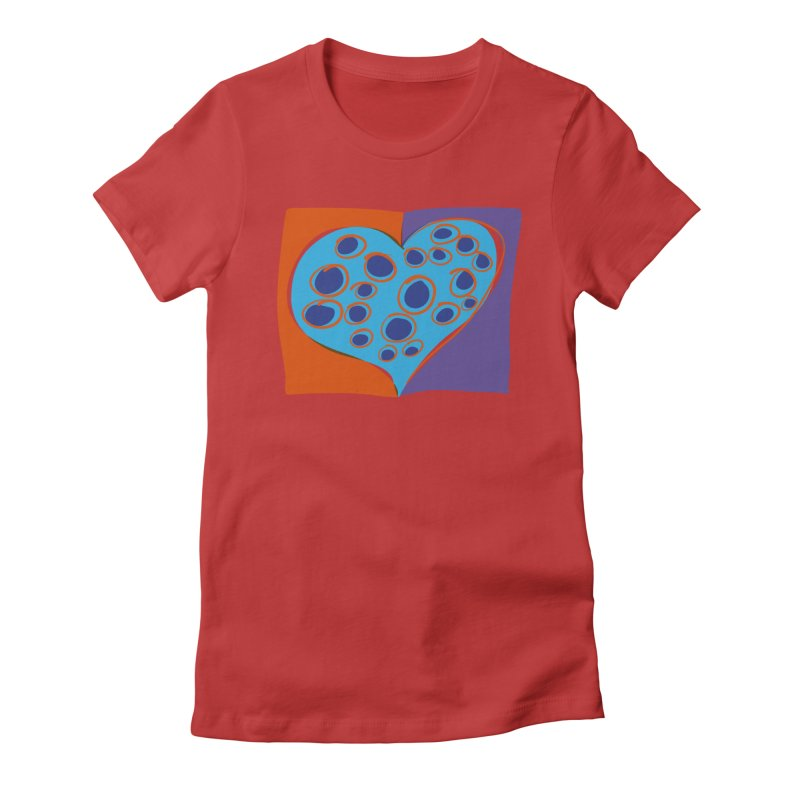 Spotted Heart Women's Fitted T-Shirt by Michael Pfleghaar
