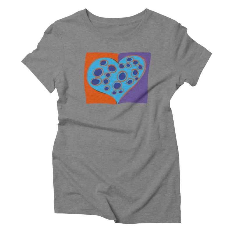 Spotted Heart Women's Triblend T-Shirt by Michael Pfleghaar