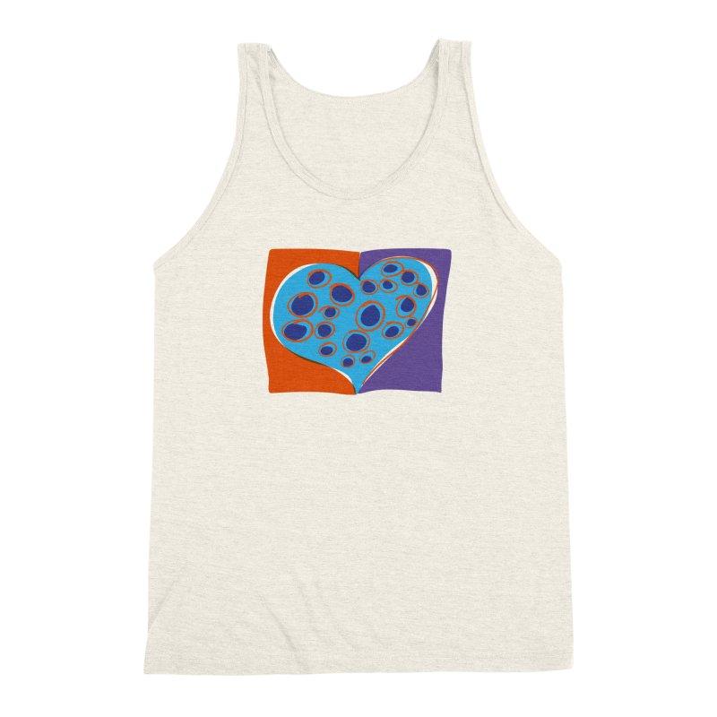 Spotted Heart Men's Triblend Tank by Michael Pfleghaar