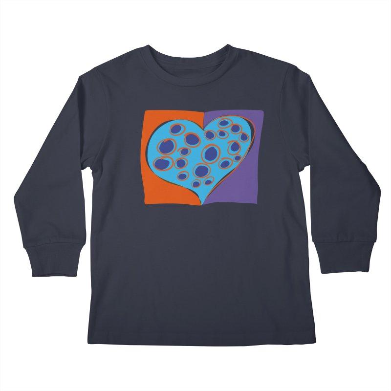 Spotted Heart Kids Longsleeve T-Shirt by Michael Pfleghaar