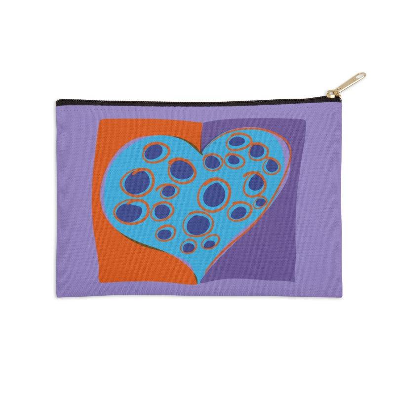 Spotted Heart Accessories Zip Pouch by Michael Pfleghaar