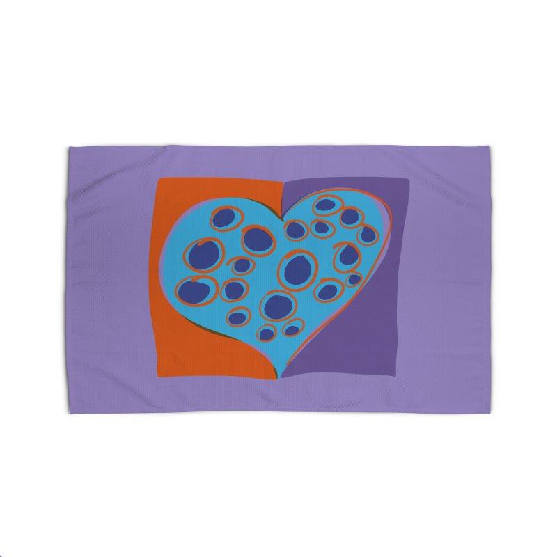 Spotted Heart Home Rug by Michael Pfleghaar