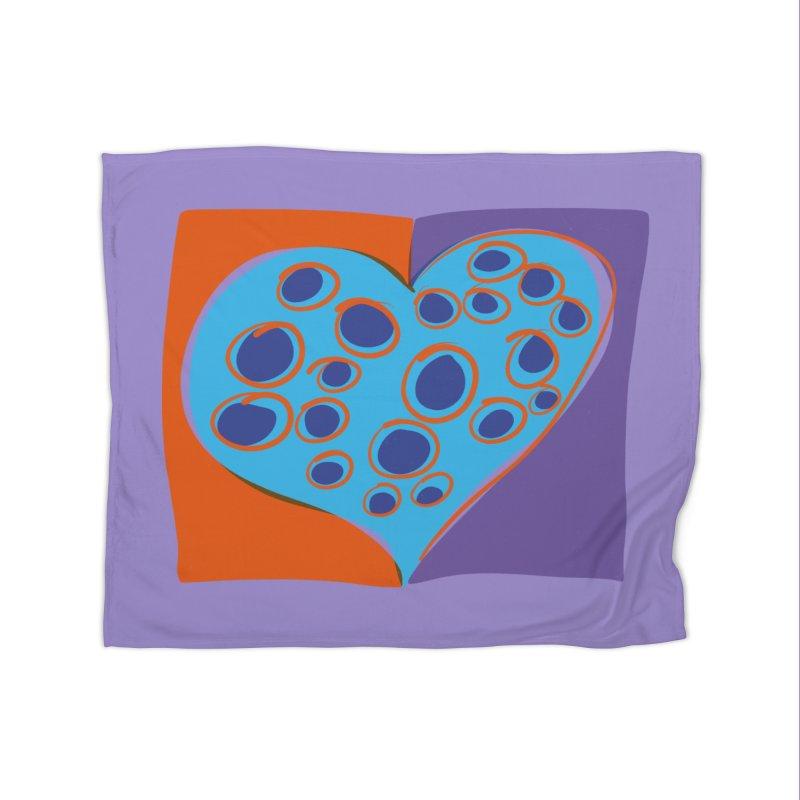 Spotted Heart Home Blanket by Michael Pfleghaar