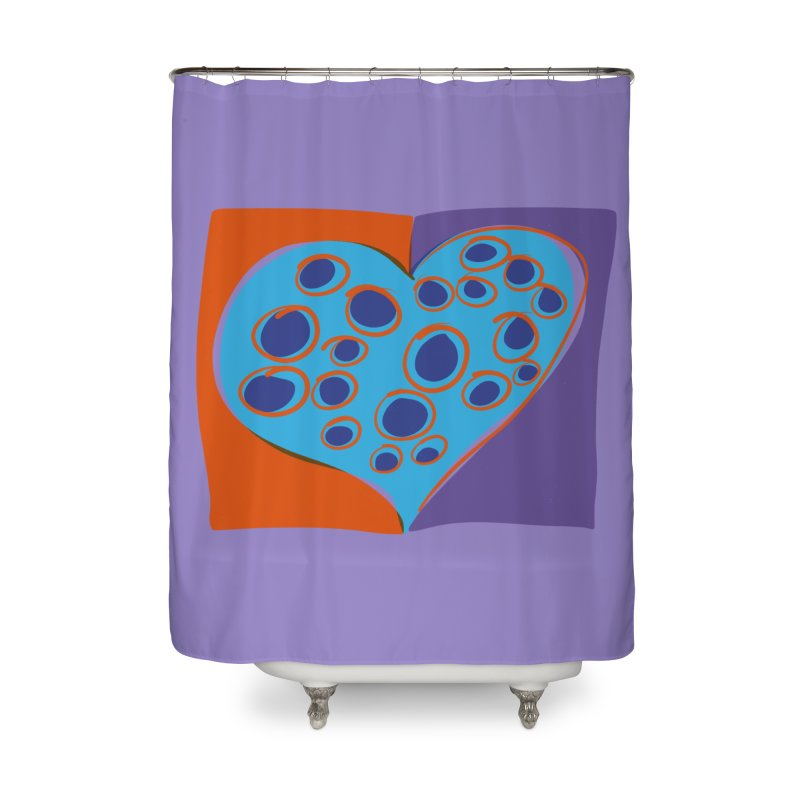 Spotted Heart Home Shower Curtain by Michael Pfleghaar