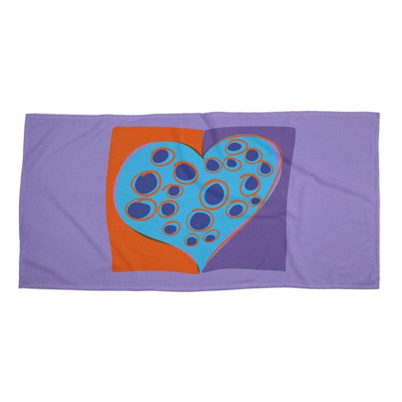 Spotted Heart Accessories Beach Towel by Michael Pfleghaar