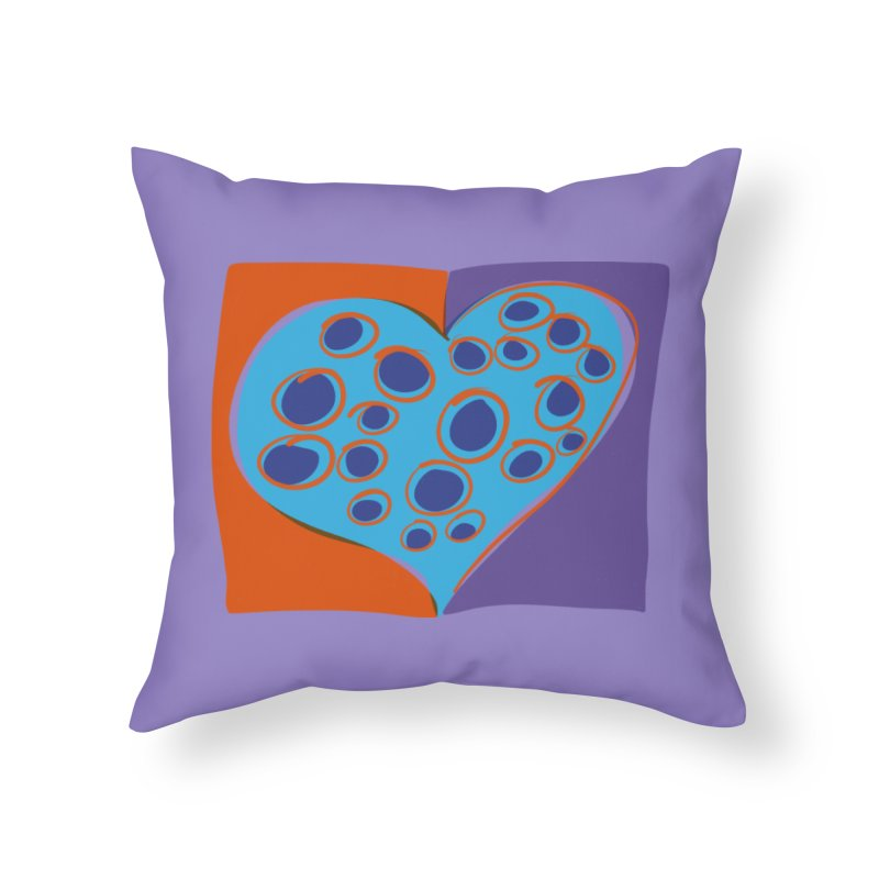 Spotted Heart in Throw Pillow by Michael Pfleghaar