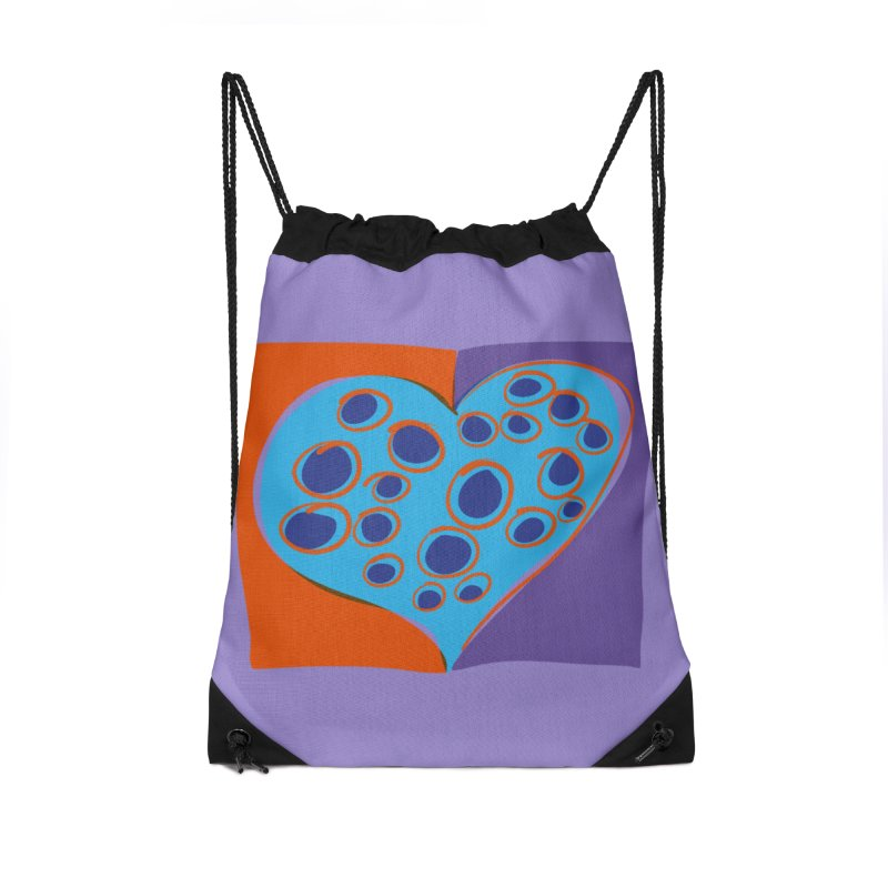 Spotted Heart Accessories Drawstring Bag Bag by Michael Pfleghaar
