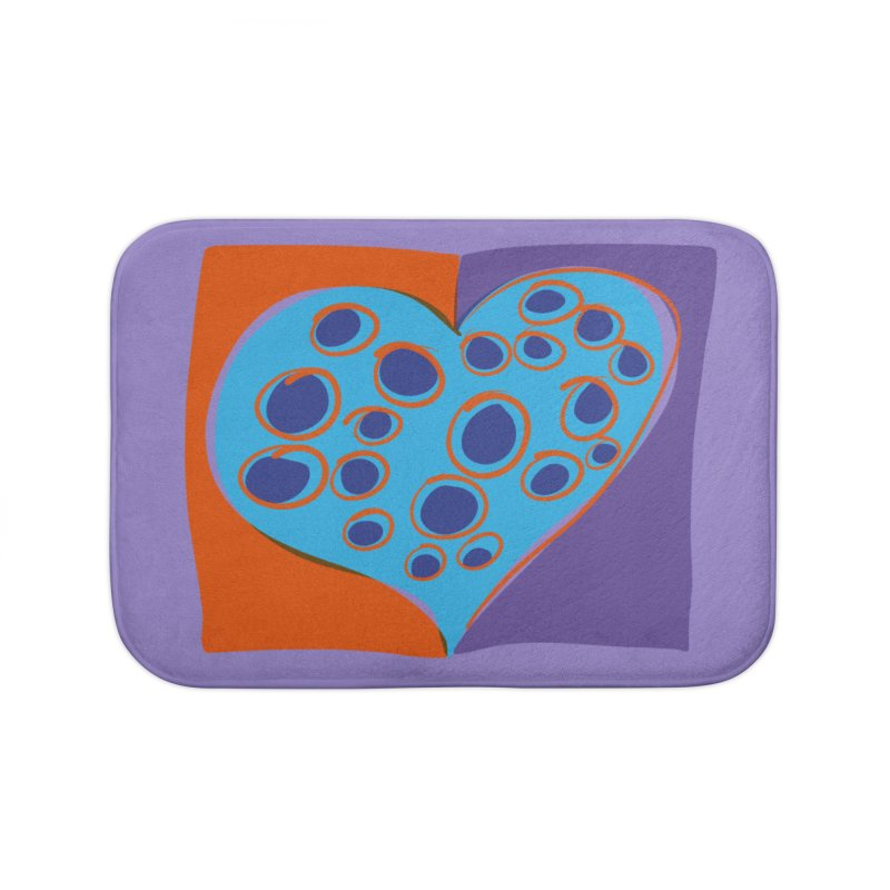 Spotted Heart Home Bath Mat by Michael Pfleghaar