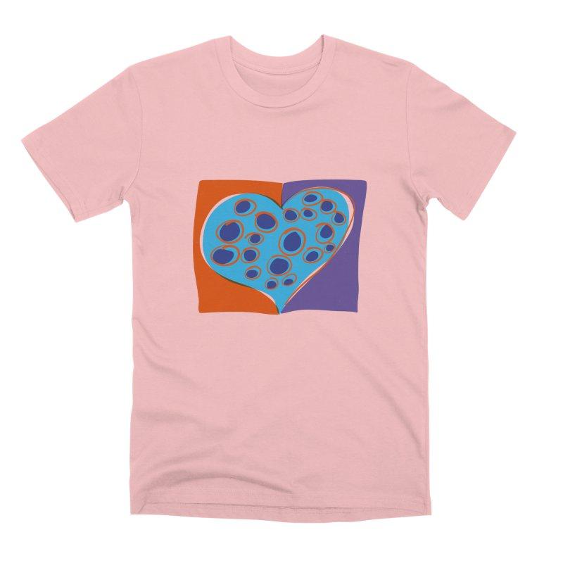 Spotted Heart Men's Premium T-Shirt by Michael Pfleghaar