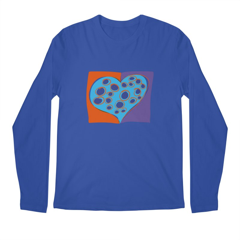 Spotted Heart Men's Regular Longsleeve T-Shirt by Michael Pfleghaar