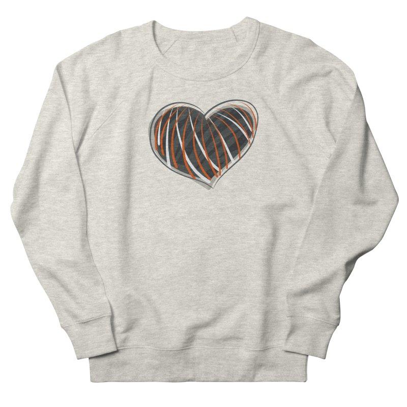 Striped Heart Women's Sweatshirt by Michael Pfleghaar