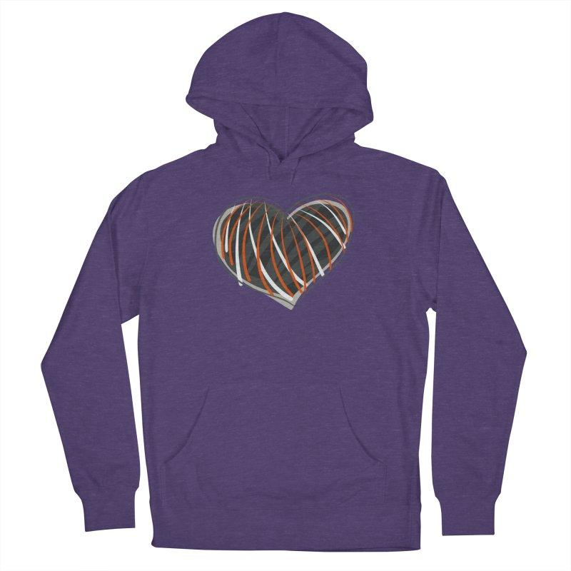 Striped Heart Women's Pullover Hoody by Michael Pfleghaar