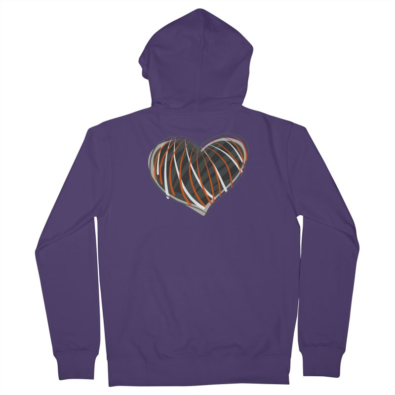 Striped Heart Women's Zip-Up Hoody by Michael Pfleghaar