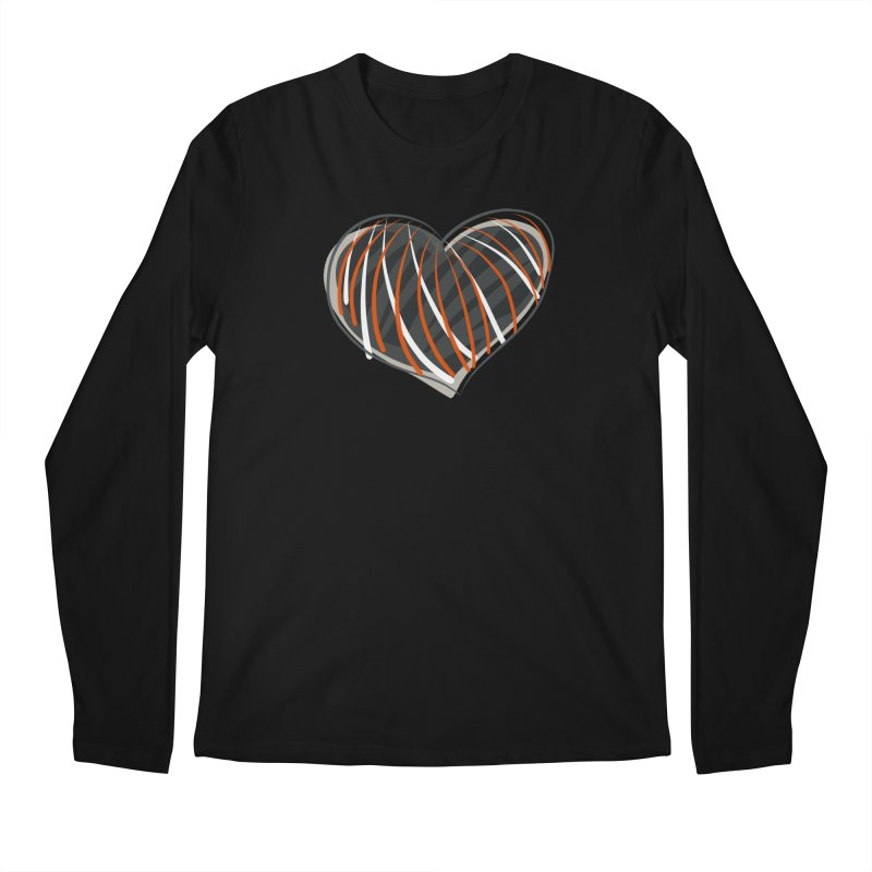Striped Heart Men's Longsleeve T-Shirt by Michael Pfleghaar