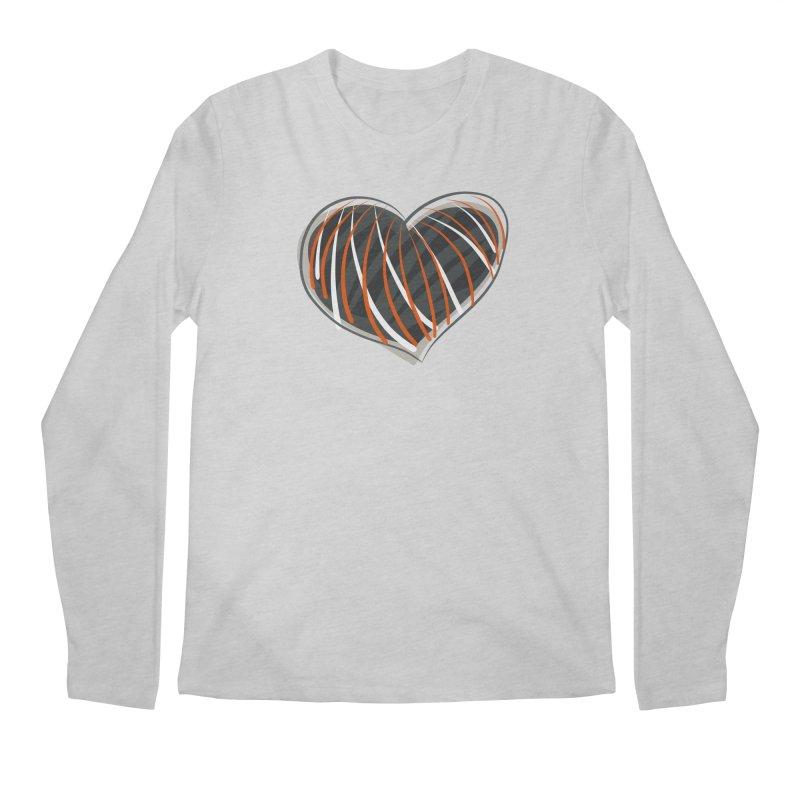 Striped Heart Men's Regular Longsleeve T-Shirt by Michael Pfleghaar