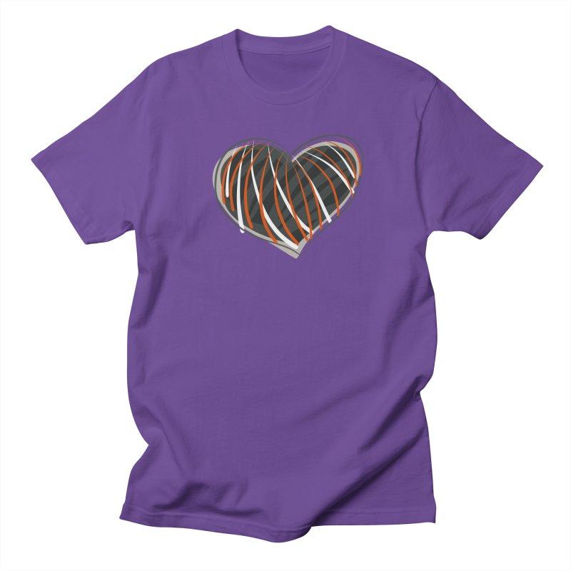 Striped Heart Women's Unisex T-Shirt by Michael Pfleghaar