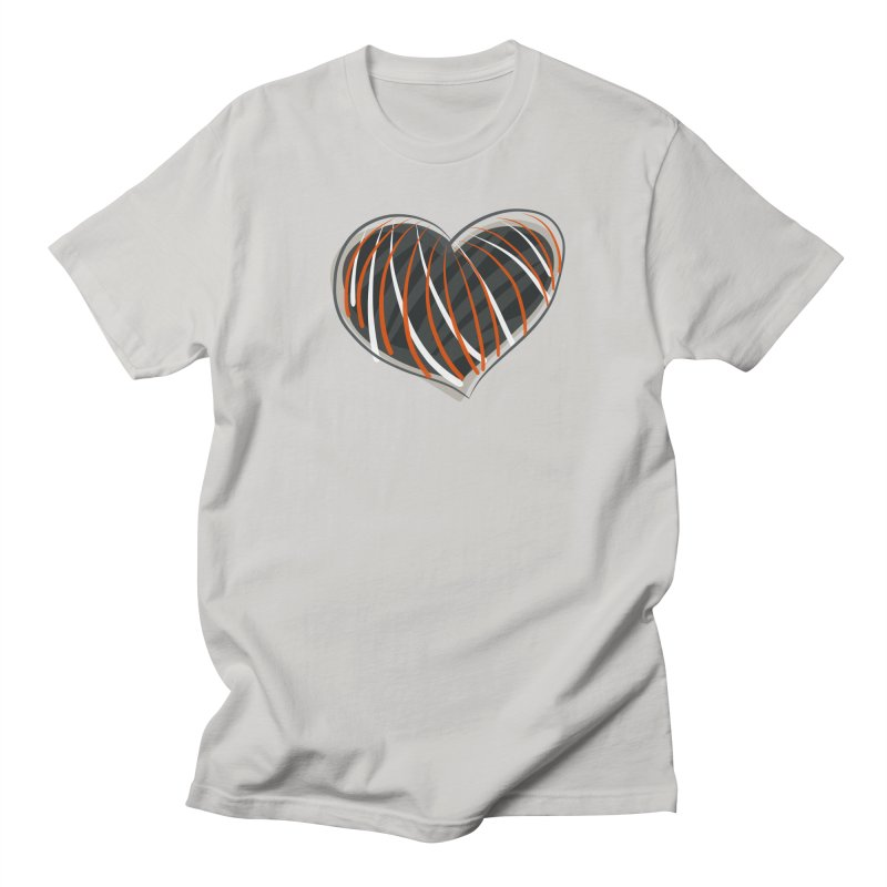 Striped Heart Men's Regular T-Shirt by Michael Pfleghaar