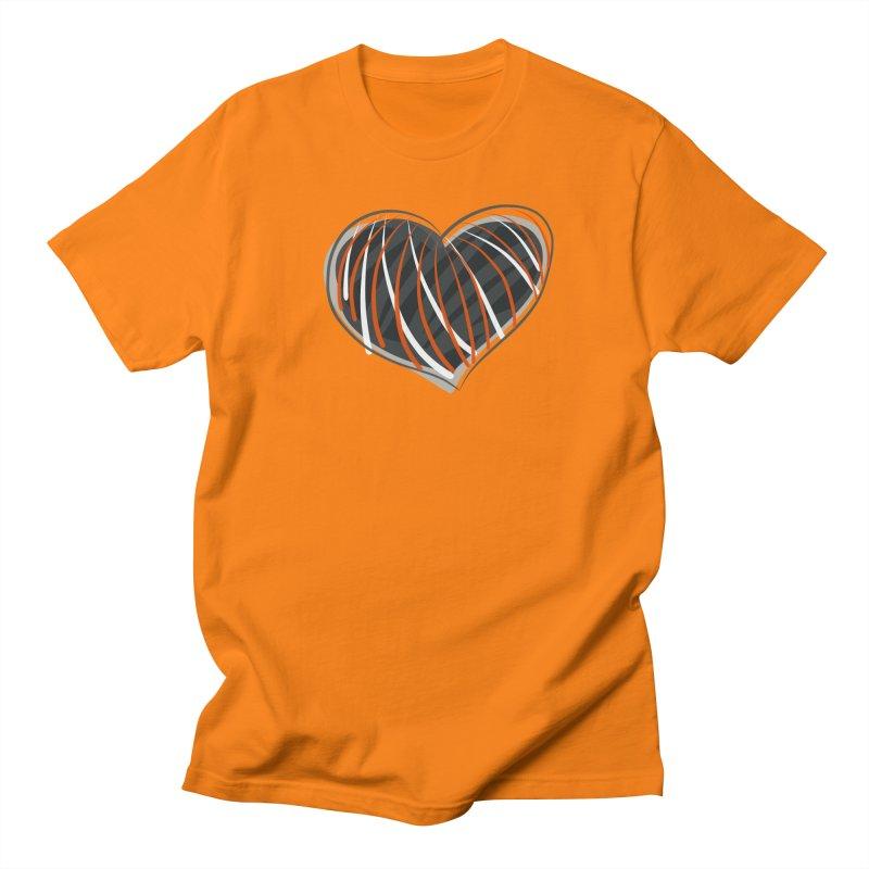 Striped Heart Men's T-Shirt by Michael Pfleghaar