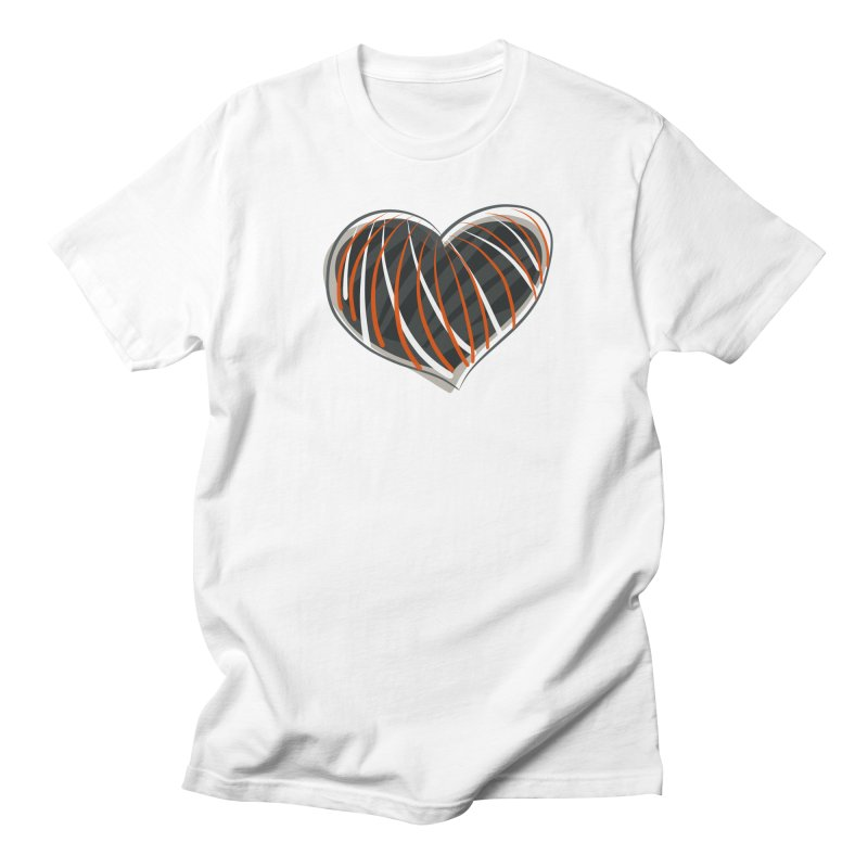 Striped Heart Men's Regular T-Shirt by Michael Pfleghaar