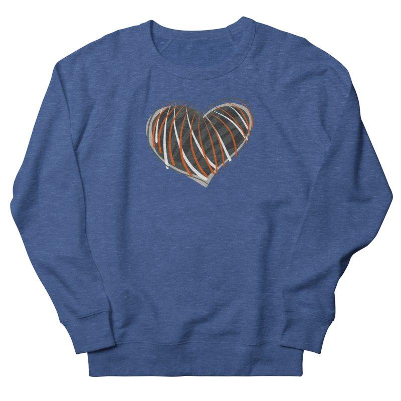 Striped Heart Women's French Terry Sweatshirt by Michael Pfleghaar