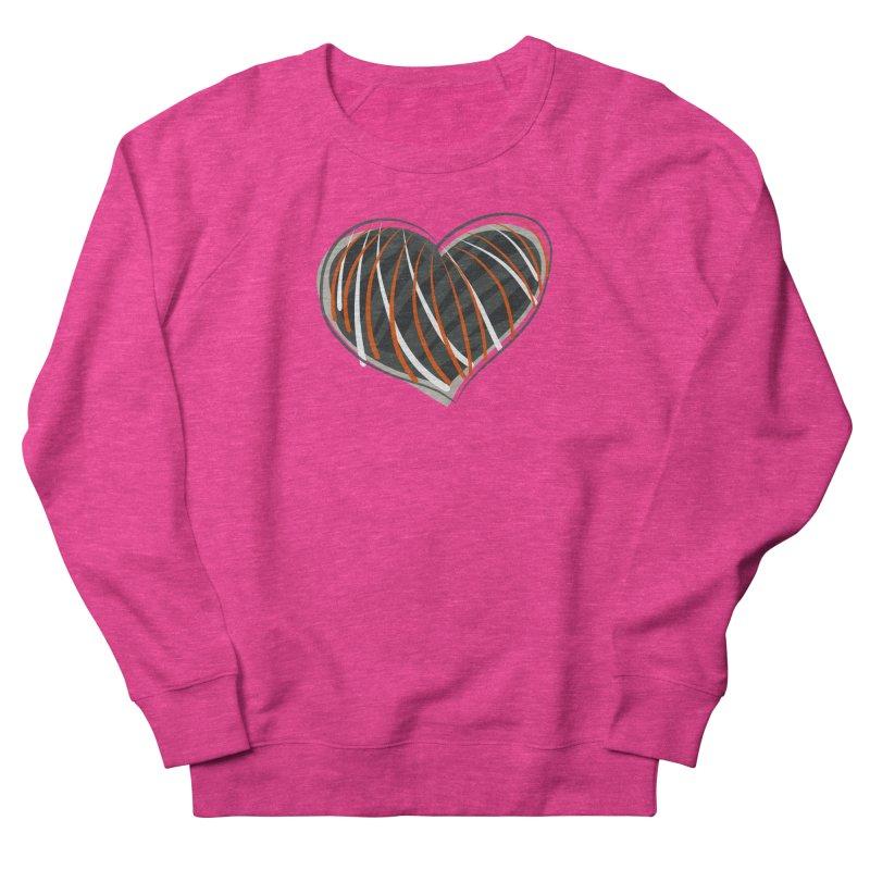Striped Heart Men's French Terry Sweatshirt by Michael Pfleghaar