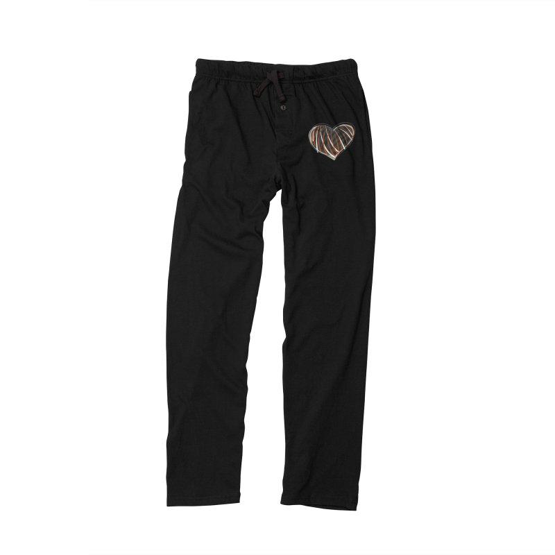Striped Heart Men's Lounge Pants by Michael Pfleghaar
