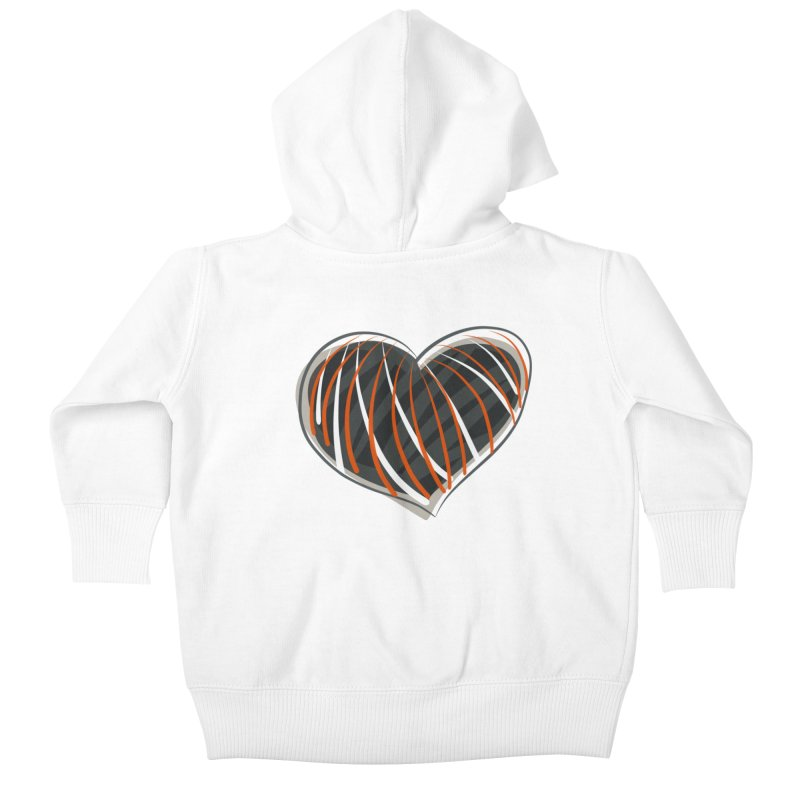 Striped Heart Kids Baby Zip-Up Hoody by Michael Pfleghaar
