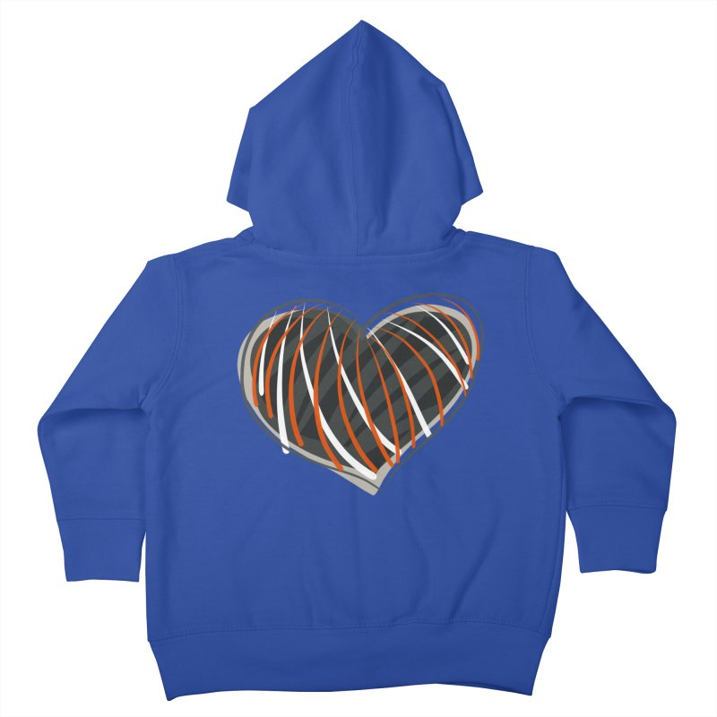 Striped Heart Kids Toddler Zip-Up Hoody by Michael Pfleghaar