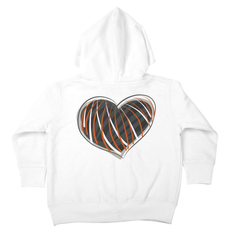 Striped Heart Kids Toddler Zip-Up Hoody by Michael Pfleghaar