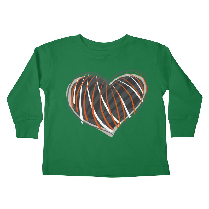 Striped Heart Kids Toddler Longsleeve T-Shirt by Michael Pfleghaar
