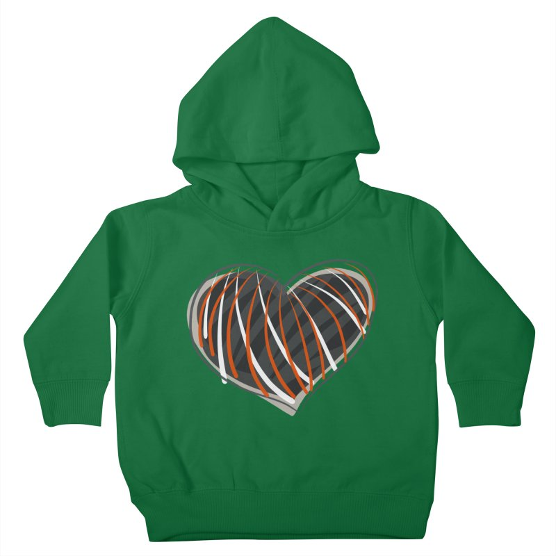 Striped Heart Kids Toddler Pullover Hoody by Michael Pfleghaar